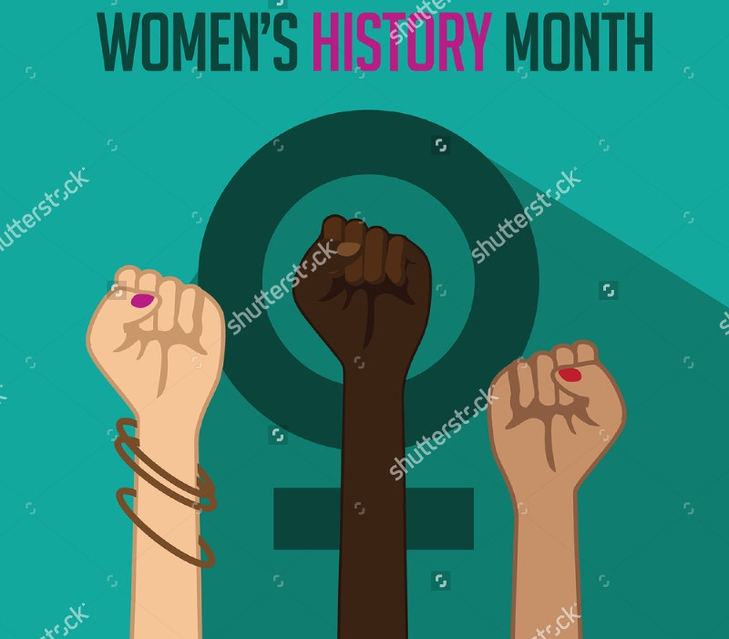 vectorl illustration of womens history month design