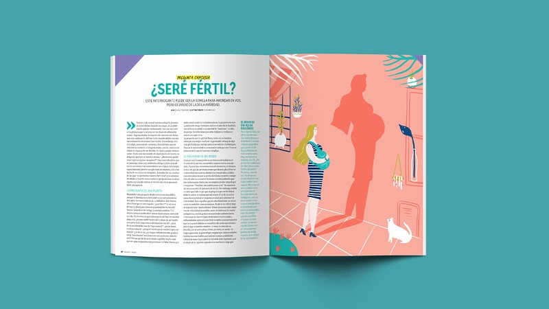 magazine editorial illustration