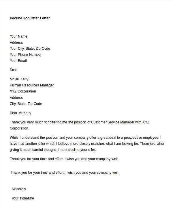 Job Offer Letter - 8+ Free Sample, Example, Format | Free