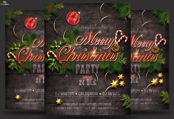 Christmas event invitation template