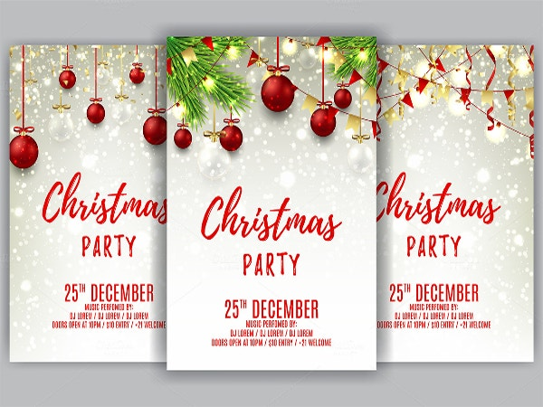 Christmas ball invitation template