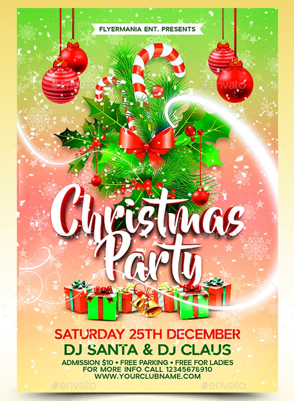 20 Christmas Party Templates Psd Eps Vector Format Download