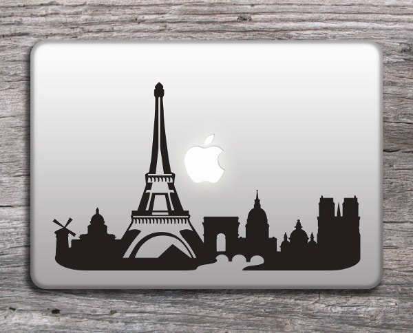 Paris and the Eiffel Tower Skyline Sticker