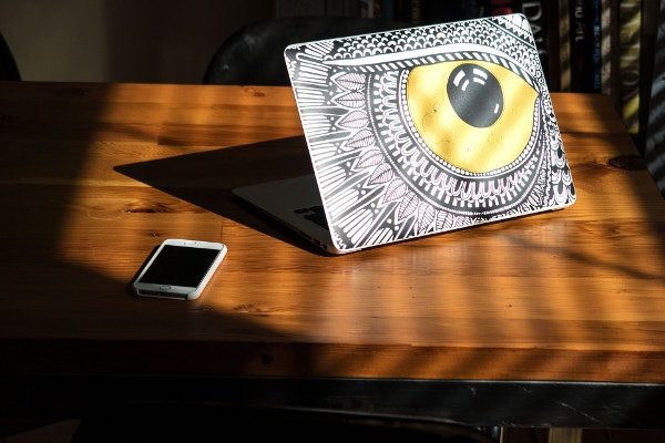 spotted owl macbook sticker
