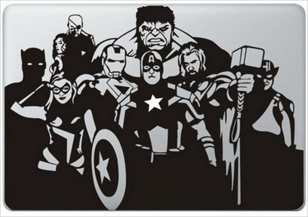 Printable Avengers MacBook Sticker