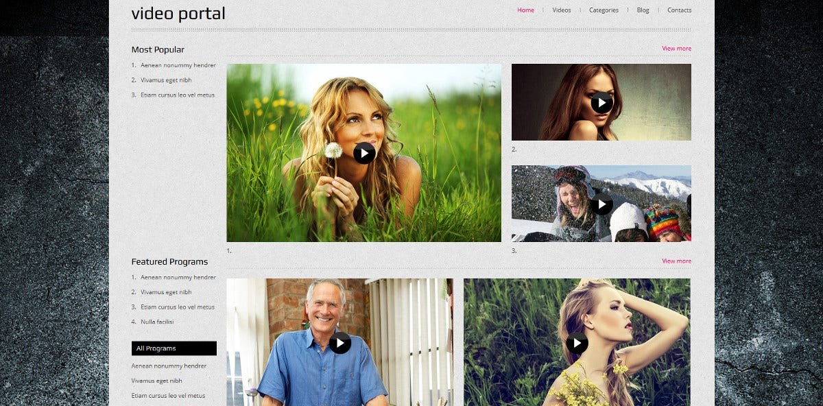Media Video Gallery Joomla Template
