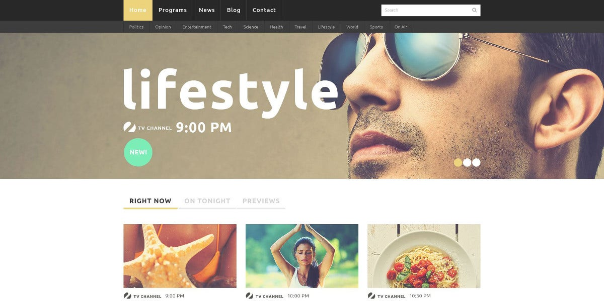 Online Media Channel Joomla Template