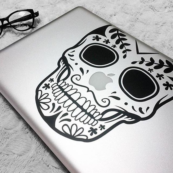skeleton design macbook sticker1