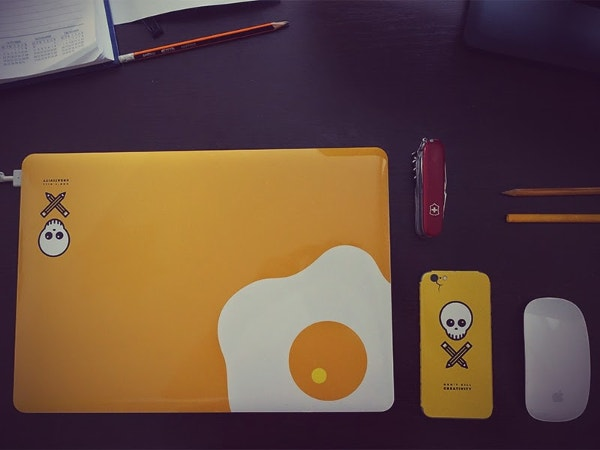 creative design mackbook sticker