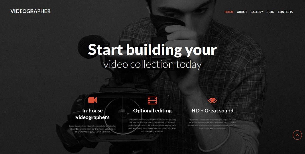 Videographer Media Joomla Template