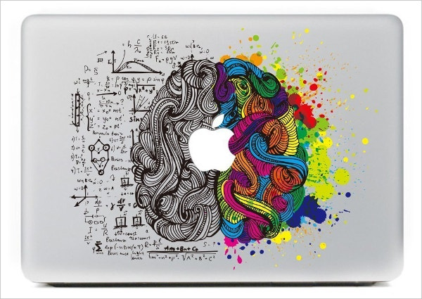 einstein brain designed macbook sticker