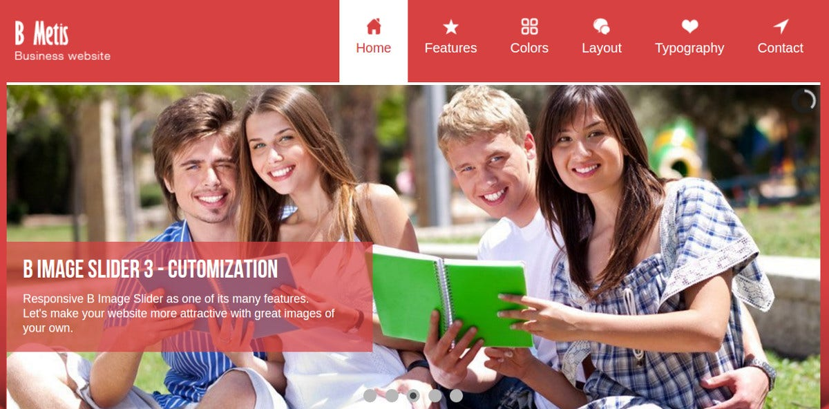 Media Social Extension Joomla Template