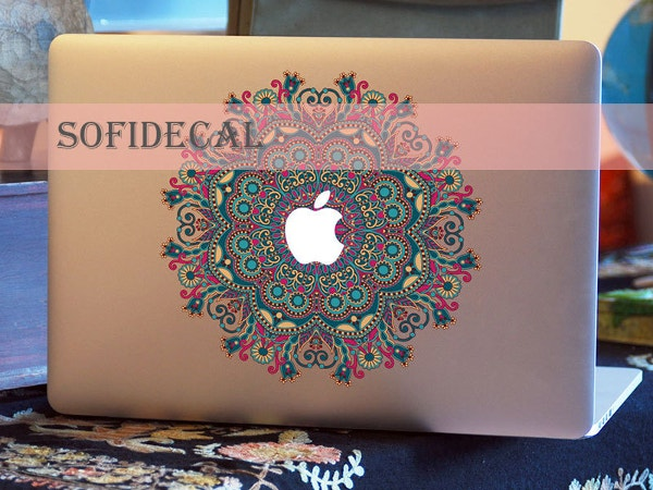 floral macbook skin sticker
