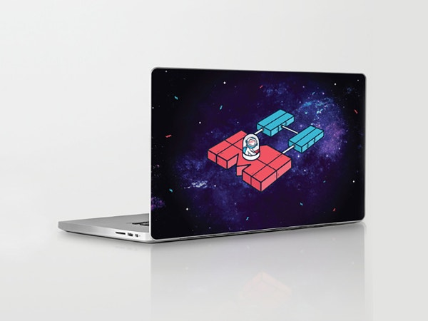 science fiction style macbook sticker