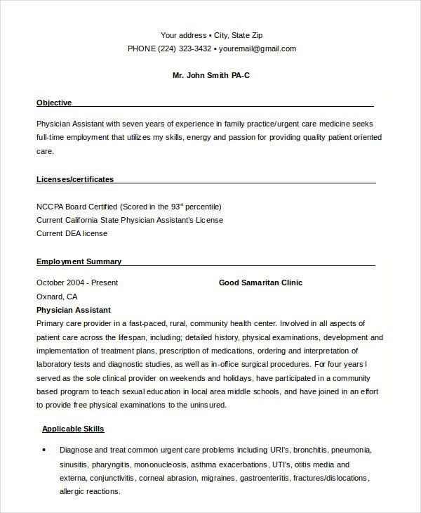 Example Of Medical Assistant Resume  Resume Examples And Free