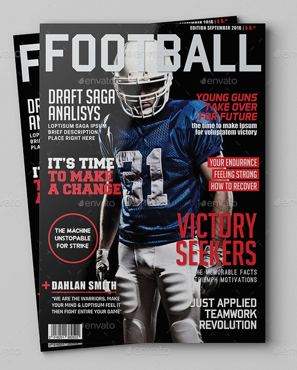Sports Magazine Cover Design