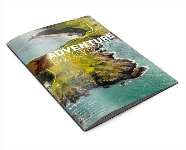 adventure magazine brochure
