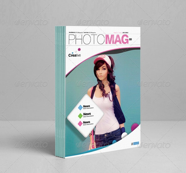 photo magazine cover template