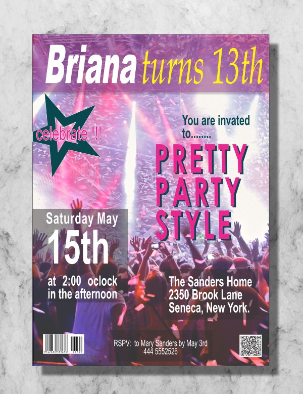 party magazine cover
