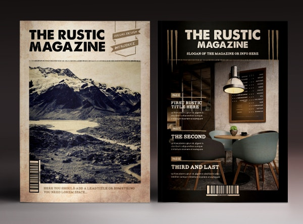 The Rustic Magazine Cover