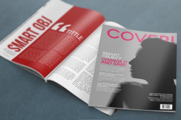 free 4k magazine cover mockup