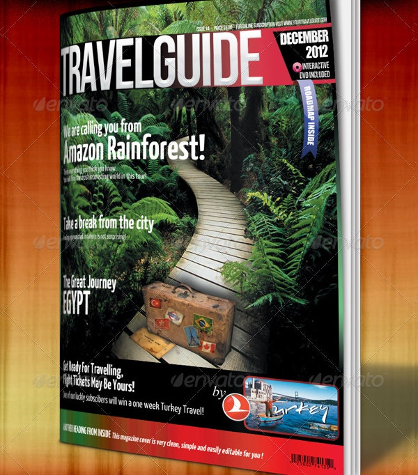 Travel Guide Magazine Cover