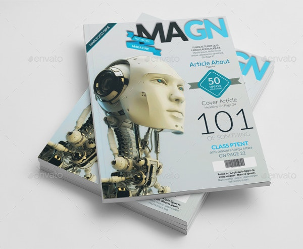 Technology Magazine Cover Template