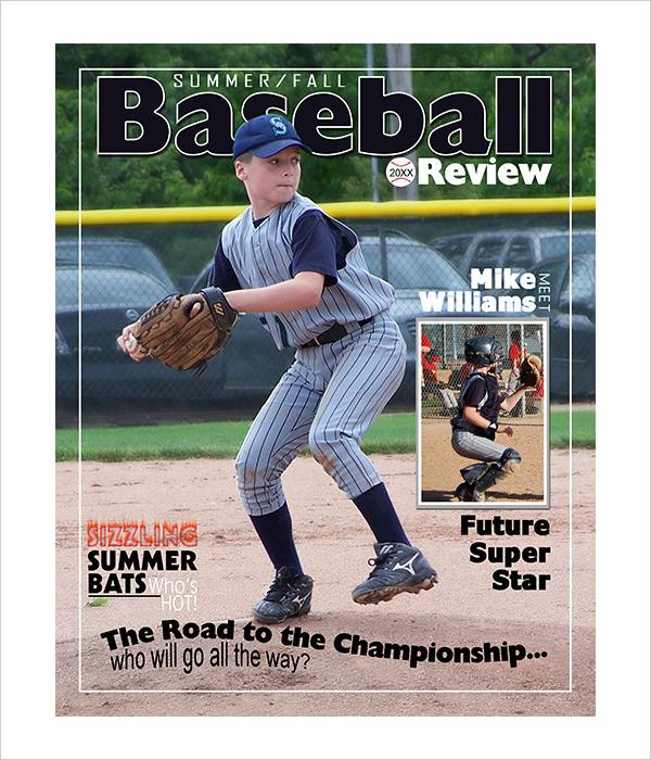 baseball magazine cover