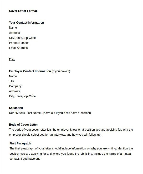 Fieldstation.co  Cover Letter Format Word