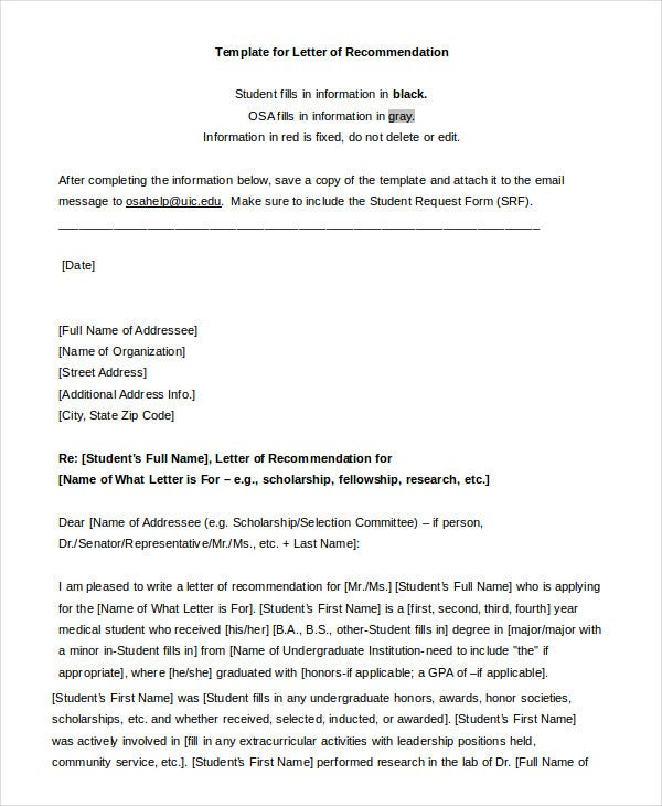 Awesome Professional Recommendation Letter Format