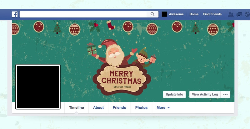 christmas fb and twitter cover page1