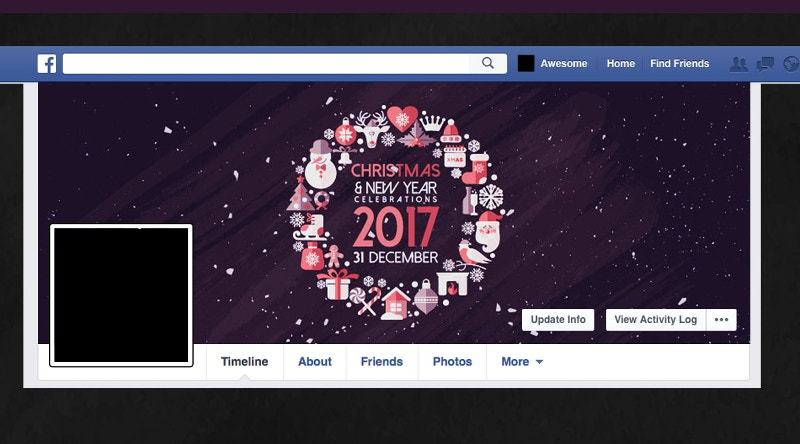 glorious christmas social media cover page template