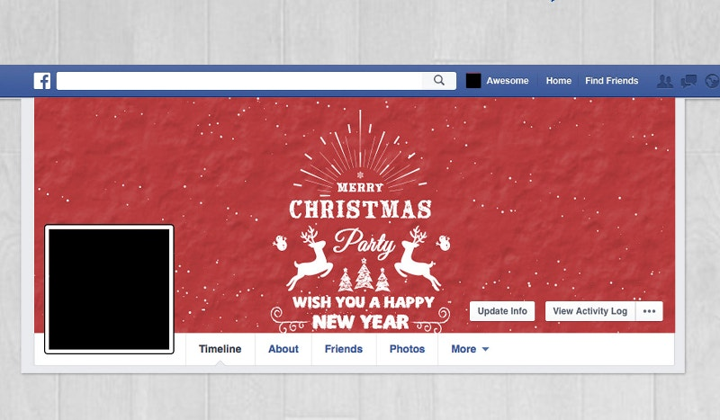 christmas social media cover page template1