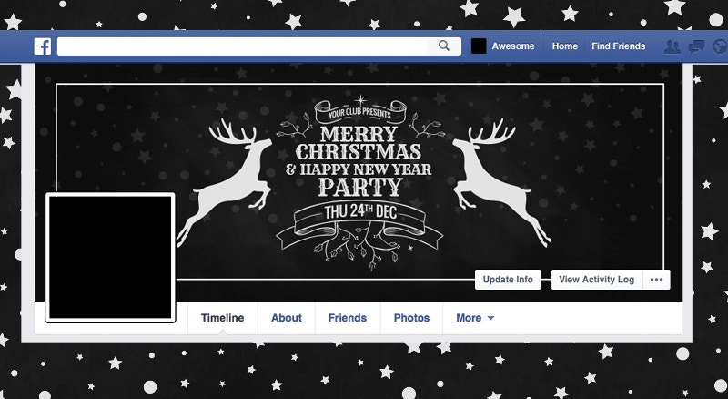 christmas holiday social media cover page template1