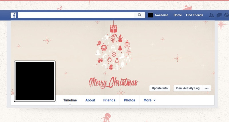 merry christmas facebook and twitter cover page1