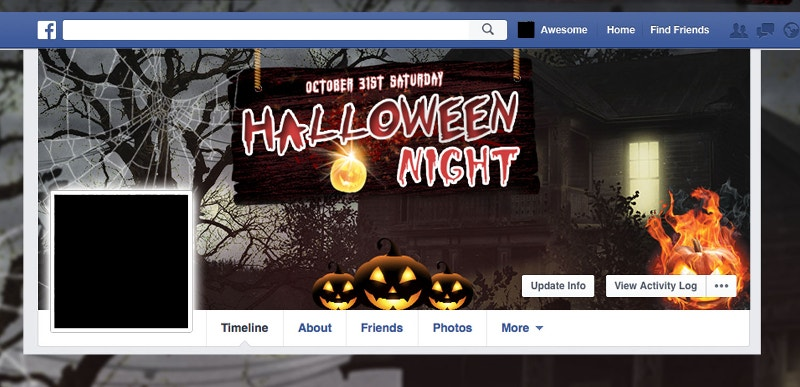 creepy halloween facebook twitter cover page1