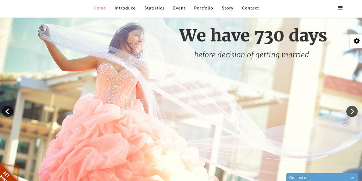 free responsive wedding onepage joomla website template