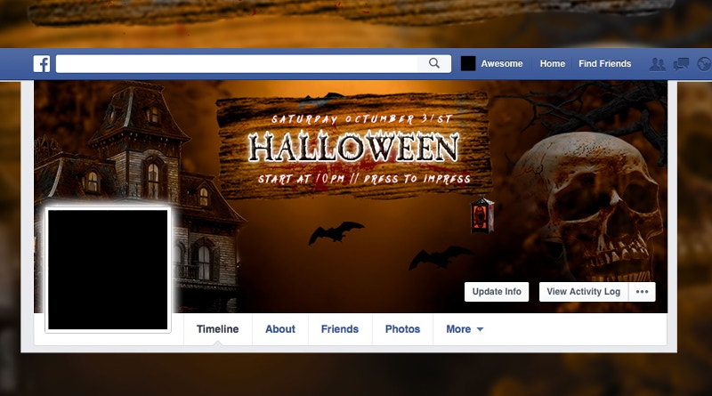 halloween party facebook twitter background cover3