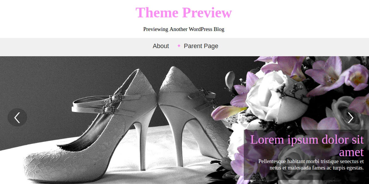 responsive wedding style website theme