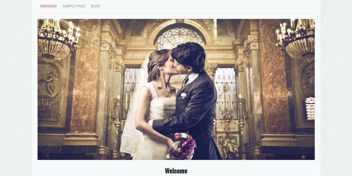 free elegant wedding wordpress website theme
