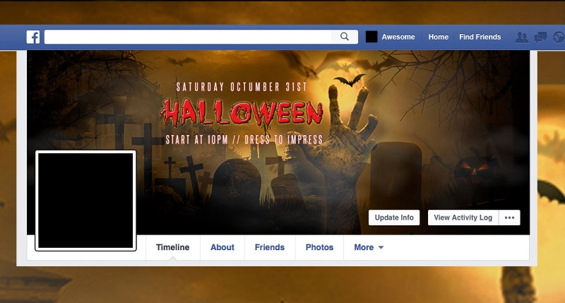 pre designed halloween facebook twitter cover page2