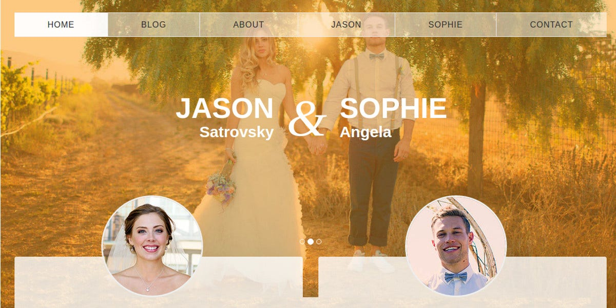 free wedding event blog website bootstrap theme
