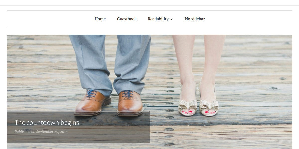 Free WordPress Wedding Planning Website Theme