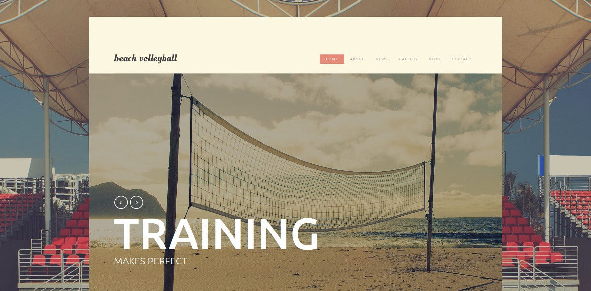Beach Club Website Template $75