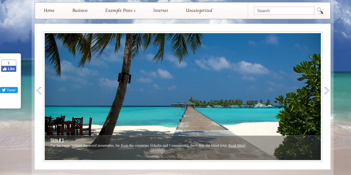 Free Beach & Resort WordPress Website Theme