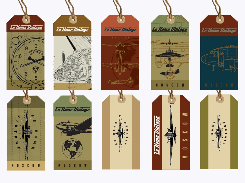 beautiful vintage tags