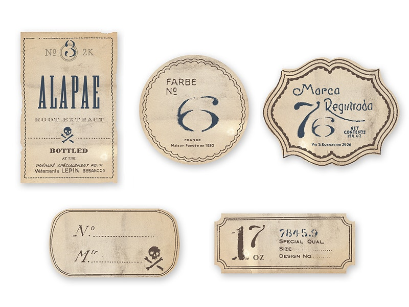 simple vintage labels