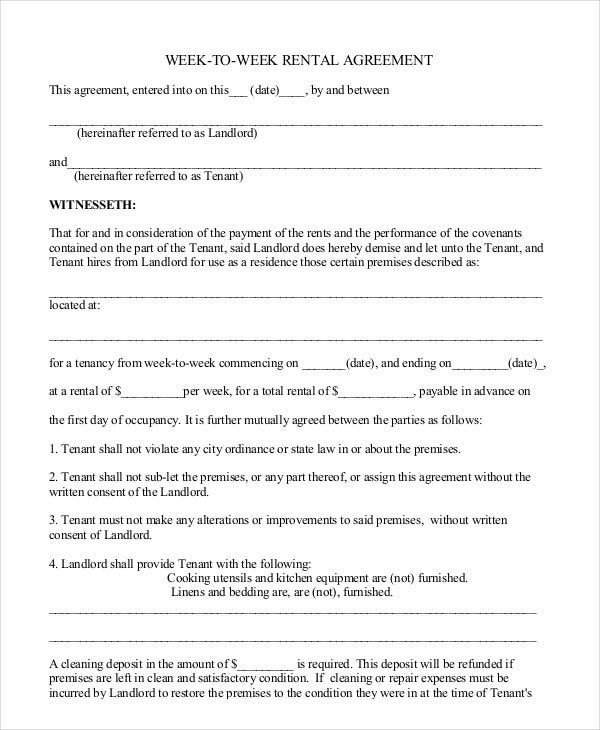 Free Rental Agreement Template - 20+ Free Word, PDF ...