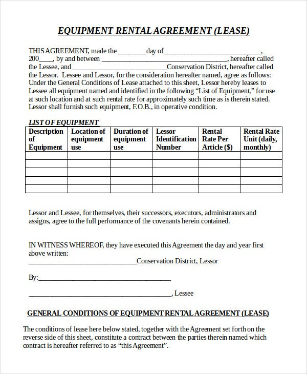 equipment-rental-agreement