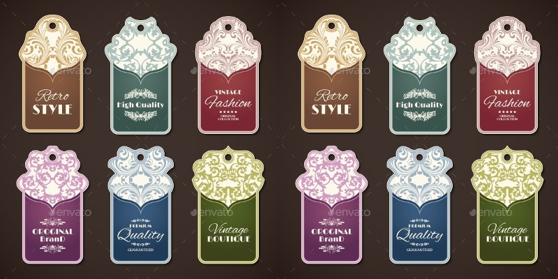 retro-style-vintage-labels-set